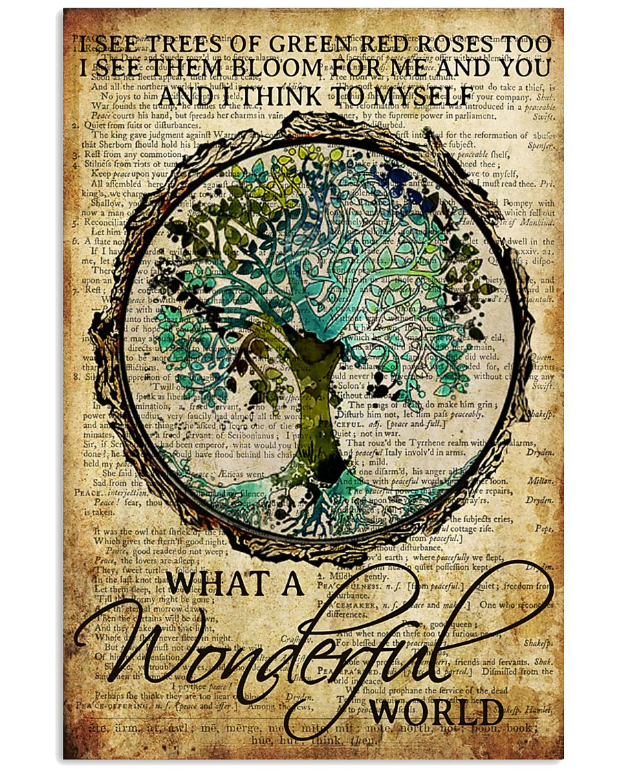 Camping What A Wonderful World 16x24 Poster