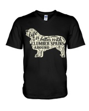 Life is better with clumber spains around V-Neck T-Shirt thumbnail