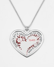 Family Daddy's Girl Metallic Heart Necklace aos-necklace-heart-metallic-lifestyle-08