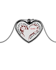 Family Daddy's Girl Metallic Heart Necklace front