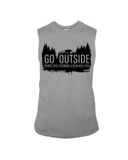 Camping GO Outside - Hoodie And T-shirt Sleeveless Tee thumbnail