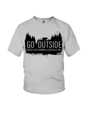 Camping GO Outside - Hoodie And T-shirt Youth T-Shirt thumbnail