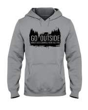 Camping GO Outside - Hoodie And T-shirt Hooded Sweatshirt front