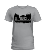 Camping GO Outside - Hoodie And T-shirt Ladies T-Shirt thumbnail