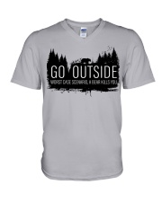 Camping GO Outside - Hoodie And T-shirt V-Neck T-Shirt thumbnail