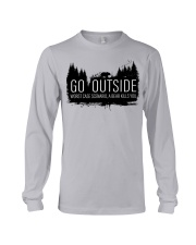 Camping GO Outside - Hoodie And T-shirt Long Sleeve Tee thumbnail
