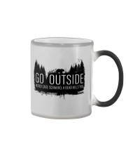 Camping GO Outside - Hoodie And T-shirt Color Changing Mug thumbnail