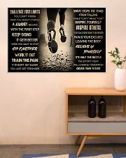 Running Challenge Your Limits 36x24 Poster poster-landscape-36x24-lifestyle-22