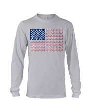 dachshund flag Long Sleeve Tee tile
