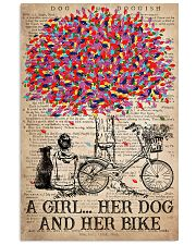 Cycling A Girl Her Dog And Her Bike 16x24 Poster front
