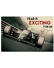Racing Fear Is Exciting For Me 36x24 Poster front