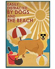 Dog Golden And The Beach 16x24 Poster front
