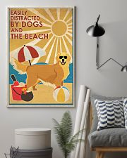 Dog Golden And The Beach 16x24 Poster lifestyle-poster-1