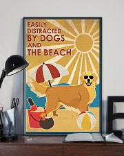 Dog Golden And The Beach 16x24 Poster lifestyle-poster-2
