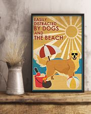 Dog Golden And The Beach 16x24 Poster lifestyle-poster-3
