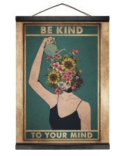 Mental Be Kind To Your Mind 12x16 Black Hanging Canvas thumbnail