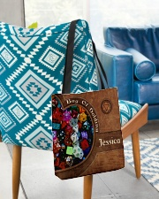 Game Bag Of Holding Leather Pattern Print All-over Tote aos-all-over-tote-lifestyle-front-01