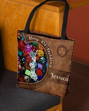 Game Bag Of Holding Leather Pattern Print All-over Tote aos-all-over-tote-lifestyle-front-02