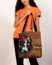 Game Bag Of Holding Leather Pattern Print All-over Tote aos-all-over-tote-lifestyle-front-06