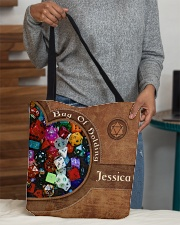 Game Bag Of Holding Leather Pattern Print All-over Tote aos-all-over-tote-lifestyle-front-10