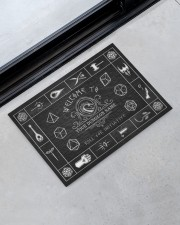 """Game Welcome To Roll For Initiative Doormat 34"""" x 23"""" aos-doormat-34-x-23-lifestyle-front-09"""