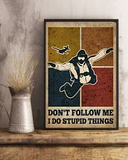 Skydiving I Do Stupid Things 16x24 Poster lifestyle-poster-3