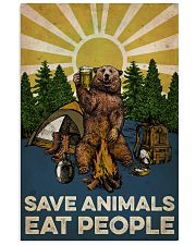 Camping Save Animals Eat People 16x24 Poster front