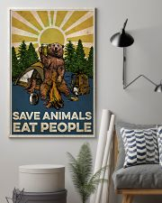 Camping Save Animals Eat People 16x24 Poster lifestyle-poster-1