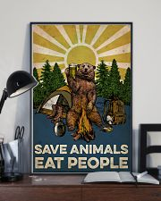 Camping Save Animals Eat People 16x24 Poster lifestyle-poster-2