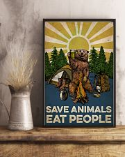 Camping Save Animals Eat People 16x24 Poster lifestyle-poster-3