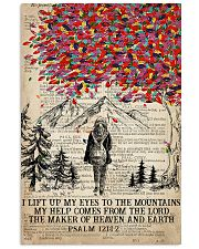 Hiking I Lift Up My Eyes To The Mountains 16x24 Poster front