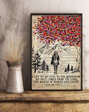 Hiking I Lift Up My Eyes To The Mountains 16x24 Poster lifestyle-poster-3