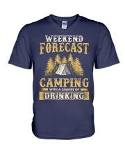 Camping Drinking V-Neck T-Shirt thumbnail