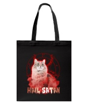 Hail satan Tote Bag tile