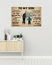 Skiing To My Son 36x24 Poster poster-landscape-36x24-lifestyle-01