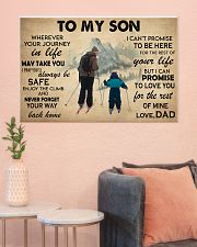 Skiing To My Son 36x24 Poster poster-landscape-36x24-lifestyle-18