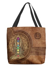 Yoga Girl Leather Pattern Print All-over Tote back
