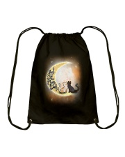 I love you to the moon Drawstring Bag thumbnail