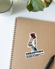 Book Abibliophobia Sticker - Single (Vertical) aos-sticker-single-vertical-lifestyle-front-16