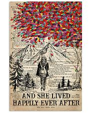Hiking And She Lived Happily Ever After Vertical Poster tile