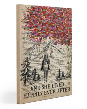 Hiking And She Lived Happily Ever After 20x30 Gallery Wrapped Canvas Prints front