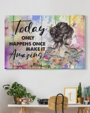 Hippie Today Only Happens Once Make It Amazing 36x24 Gallery Wrapped Canvas Prints aos-canvas-pgw-36x24-lifestyle-front-18