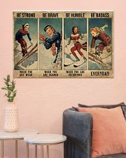 Skiing Be Strong Be Brave 36x24 Poster poster-landscape-36x24-lifestyle-18