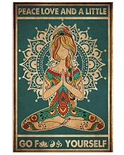 Yoga Peace Love And A Little 2 16x24 Poster front