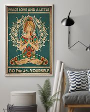 Yoga Peace Love And A Little 2 16x24 Poster lifestyle-poster-1