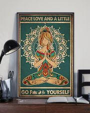 Yoga Peace Love And A Little 2 16x24 Poster lifestyle-poster-2