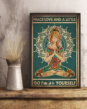Yoga Peace Love And A Little 2 16x24 Poster lifestyle-poster-3