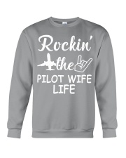 pilot wife Crewneck Sweatshirt tile