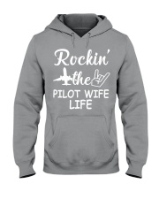 pilot wife Hooded Sweatshirt tile