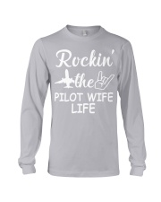 pilot wife Long Sleeve Tee tile